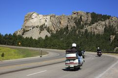 Road to Mount Rushmore Stock Images