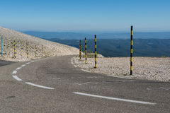 Road to Mount Ventoux, France Royalty Free Stock Photography
