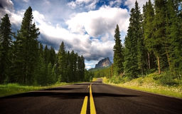 Road To Mountain Royalty Free Stock Photography