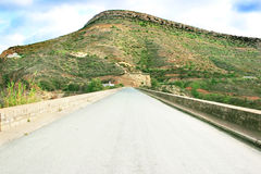 Road to mountain. Road to the mountain in Cyprus Royalty Free Stock Photography