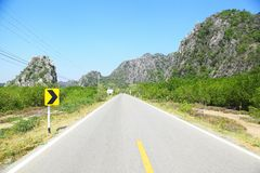 Road to the mountain Stock Photography
