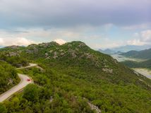 Road to the mountain. Beautiful Summer Mountain Road royalty free stock photography
