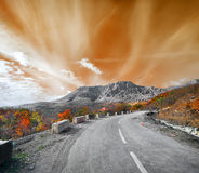 Road to the mountain Demerji Stock Photos