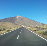 Road to the mountain El Teide Royalty Free Stock Photos