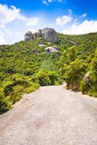Road to mountain of Montserrat, Spain Stock Photography