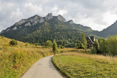 The road to the mountain shelter Royalty Free Stock Photo