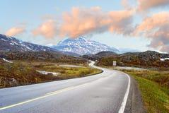 Road to mountains. Of Norway Stock Photos