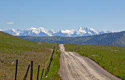 Road to the Mountains Royalty Free Stock Photography