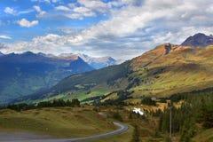 Road to mountains Stock Photos