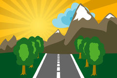 Road to mountains Royalty Free Stock Photography