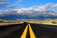 Road to the mountains Stock Photography