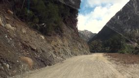 Road to mountains and coast line ocean in Argentina. stock video footage