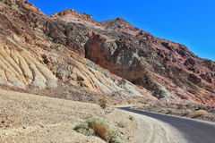 The road to  mountains of Death Valley Stock Photography