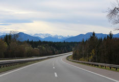 Road to mountains Royalty Free Stock Photo