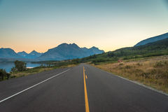Road to the mountains. Image of a road that leads to the mountains Stock Images