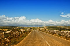 Road To Mountains. Near The Coast Stock Images