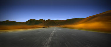 Road to mountains. Photo Stock Image