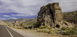 Road to the mountains. Stock Photo