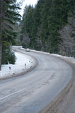 Road to mountains in the winter. Stock Images