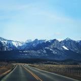 Road to the mountians Royalty Free Stock Photography