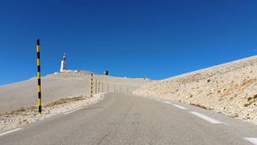 Road to Mout Ventoux stock footage