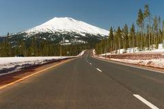 Road to Mt. Bachelor Ski Resort Cascade Range Stock Photography