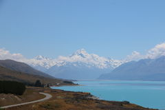 Road to Mt.Cook, New Zealand. stock photography
