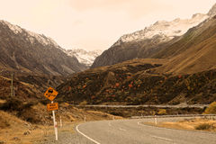 Road to Mt. Cook,South Island New Zealand. Royalty Free Stock Image
