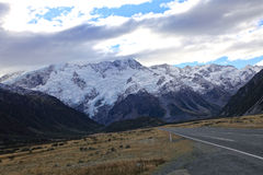 Road to Mt. Cook,South Island New Zealand. Stock Photography