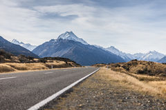 Road to Mt. Cook Stock Images