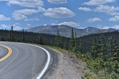 Road to Mt Evans Stock Image