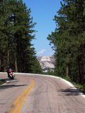 Road to Mt. Rushmore. A road leading to Mt. Rushmore Royalty Free Stock Photos