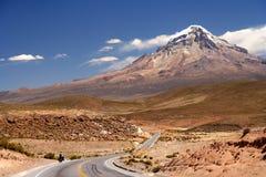 Road to Nevado Sajama Royalty Free Stock Photo