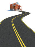 Road to new house Royalty Free Stock Images