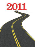 Road to new year Royalty Free Stock Image