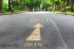 Road to new year from 2016 to 2017 Royalty Free Stock Photo