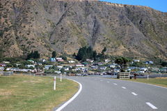 Road to Ngawi, New Zealand. Road to Ngawi, a small coastal fishing town in New Zealand stock photography