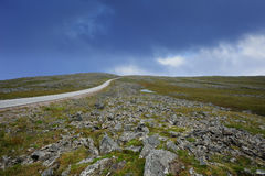 The road to Nordkapp, Norway. The road to Nordkapp, Finnmark, Norway Stock Photography