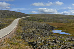 The road to Nordkapp, Norway. The road to Nordkapp, Finnmark, Norway Stock Images