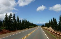 Road to northshore. At oahu hawaii stock photography