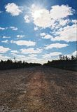 Road to nowhere. Road going far away. Photo taken in the Far East of Russia Stock Image