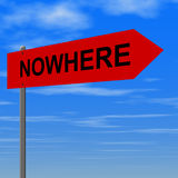 Road to nowhere. Sign Royalty Free Illustration