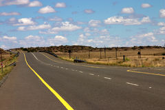 The road to nowhere. The road to nowhere on a beautiful summer day Royalty Free Stock Images