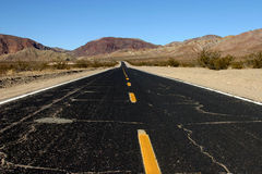 Road to nowhere. A long long road leading to... nowhere Royalty Free Stock Photo