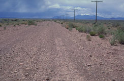 Road To Nowhere. Lonely Road in the American West royalty free stock photography