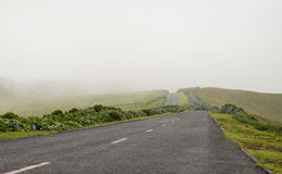 Road to nowhere in Azores Royalty Free Stock Images