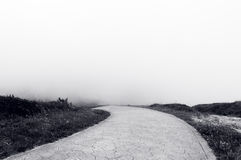 Road to nowhere. In black and white Stock Photography