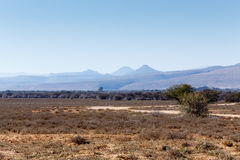 Road to Nowhere - Graaff-Reinet Landscape Stock Images