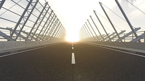 Free Road To Nowhere Into Sunset Stock Photos - 19391373