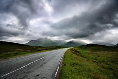 Road to nowhere. In  isle of skye Scotland united kingdom Europe Stock Photos